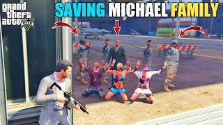 GTA 5 : MICHAEL SAVING HIS FAMILY FROM MILITARY COLONEL || BB GAMING