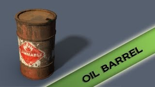 Autodesk Maya 2013 Tutorial - Oil Barrel Modeling, Texturing, and lighting