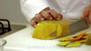 Risotto Zucca e Speck mantecato con olio EVO Fruttato Leggero