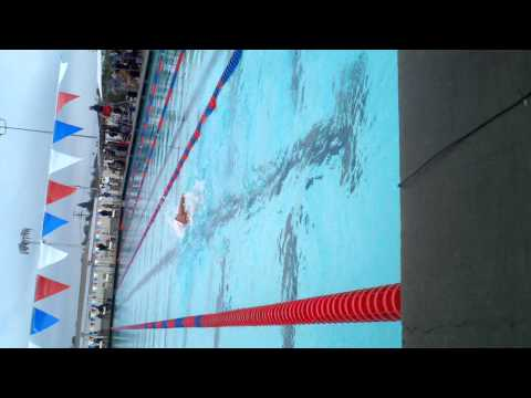 Janet Evans world record 800 free - the 650 meter mark - Fullerton June 2011