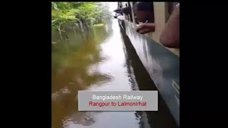 Trains On Water - Amazing Compilation,AMAZING Trains On Water Compilation,Train in water,Bangladesh.
