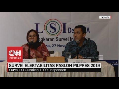 Survei Elektabilitas Paslon Pilpres 2019