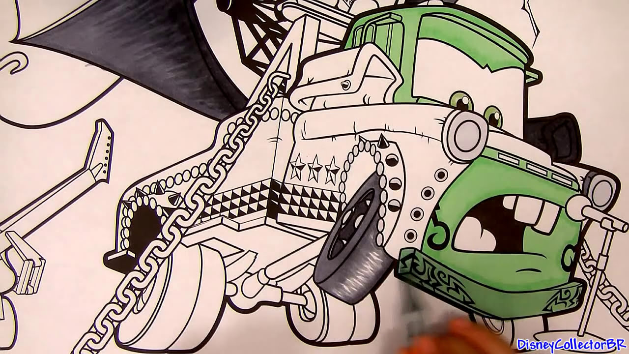 heavy metal mater drawing from cars toon disney pixar paint with