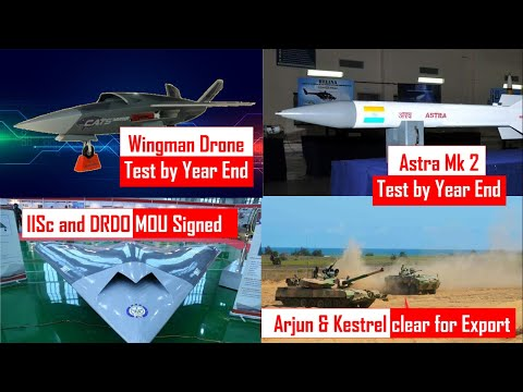 Top 5 Defense-Update: HAL Wingman Drone test | Astra Mk2 Test |Arjun and Tata Kestral export