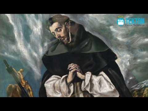 Santo Domingo de Guzman y los demonios que expulso con el rosario de la Virgen Maria