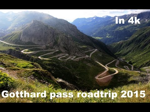 Driving over the Gotthardpass/Switzerland 08/2015 / In 4k! WATCH
