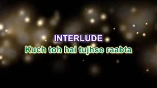 Raabta I Title song | Karaoke with lyrics | Sing along | Arijit singh |