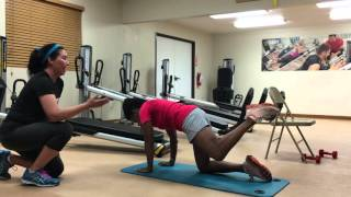 Total gym leg exercises to strengthen and tone total gym