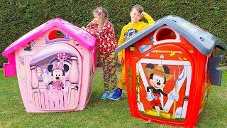 ALİNİN YENİ EVLER Kids build Toy New Disney Playhouses