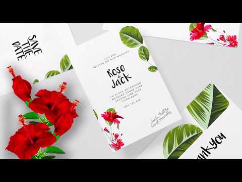 Illustrator Tutorials | Hibiscus Vector Brush, Floral Wedding Card, TL, Designer Routine Work