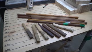 Making wooden training knives and sticks
