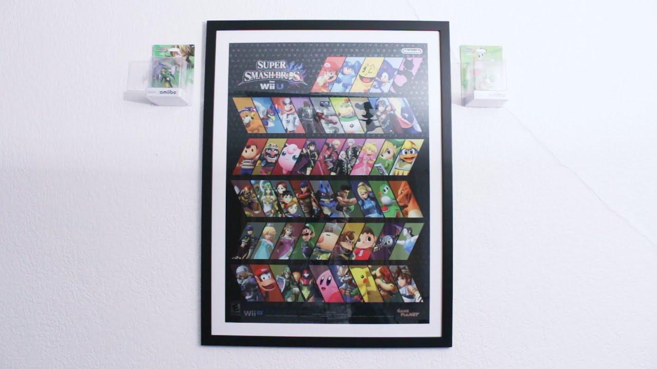 Poster de Smash Bros Enmarcado!! + Próximos Gameplays: GTA5 Online y ...