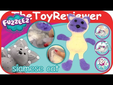 Fuzzeez Siamese Cat Felt Kit DIY Stuffed Animal Making Unboxing Toy Review by TheToyReviewer