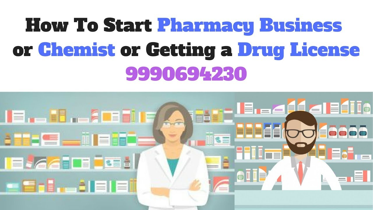 How to start own Pharmacy Business Retail or Wholesale in India (ENglish/Hindi)