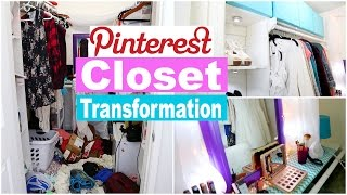 PINTEREST HACKS CLOSET TRANSFORMATION!