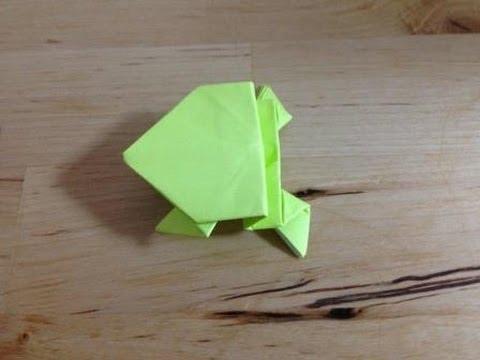 簡単 折り紙 折り紙 カエル 作り方 : youtube.com