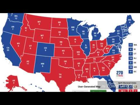 Electoral College Map!! Monday, November 7, 2016! President Election Polls!!