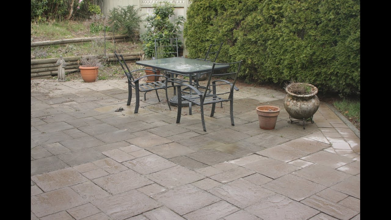 Charmant How To Clean Cement Patio Slabs
