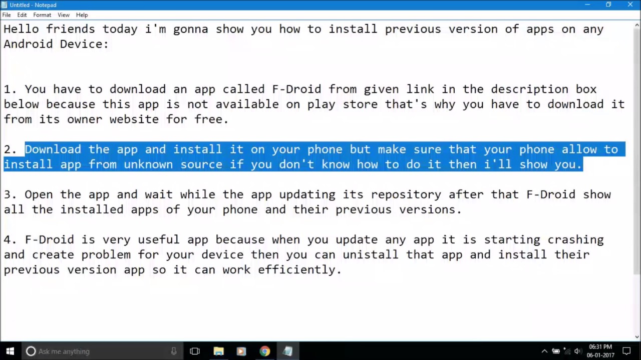 How To Install Previous Version of Apps on any Android Device?