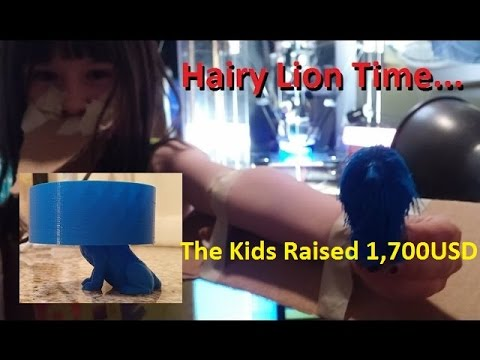 Riley & The 3D Printed Hairy Lion (The Kids Raised 1,700 USD)