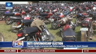 Fayose Hosts Motorcyclists, Drivers In Govt House