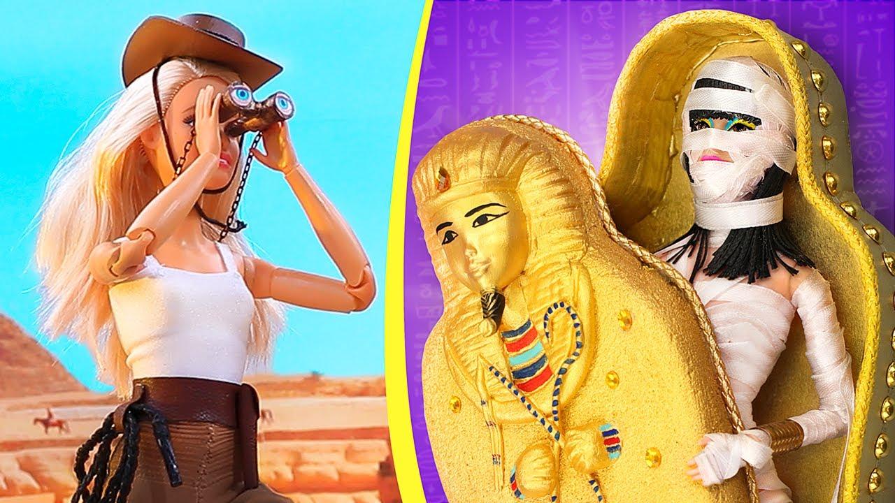 Barbie Invadindo Tumba no Egito / 12 Truques para Bonecas