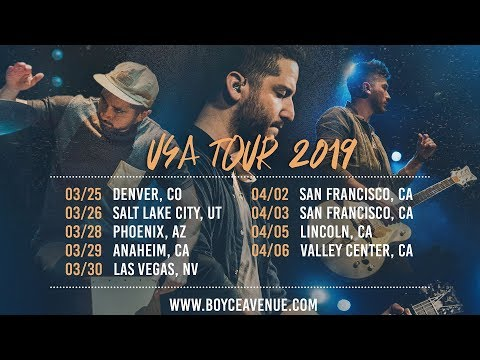 usa-tour-2019-|-tickets-on-sale-|-boyce-avenue