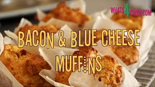 Bacon & Blue Cheese Savory Muffin Recipe. Quick And Easy Savory Muffin Recipe By Whats4chow.com