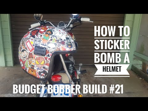 Budget Bobber Build #21 | How to Sticker Bomb a Motorcycle Helmet