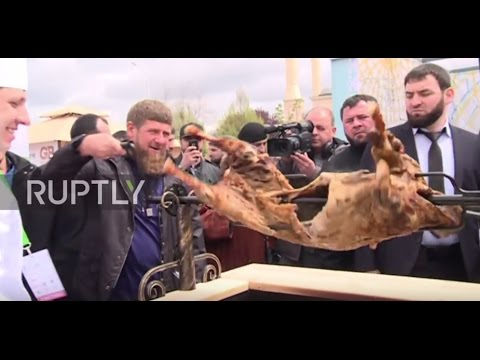 Russia: Kadyrov enjoys a spit-roast at Chechnya's Shashlik-Mashlik festival