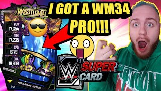 I GOT A WRESTLEMANIA 34 PRO FROM A WM34 PLATINUM PACK OPENING Noology WWE SuperCard Season 4