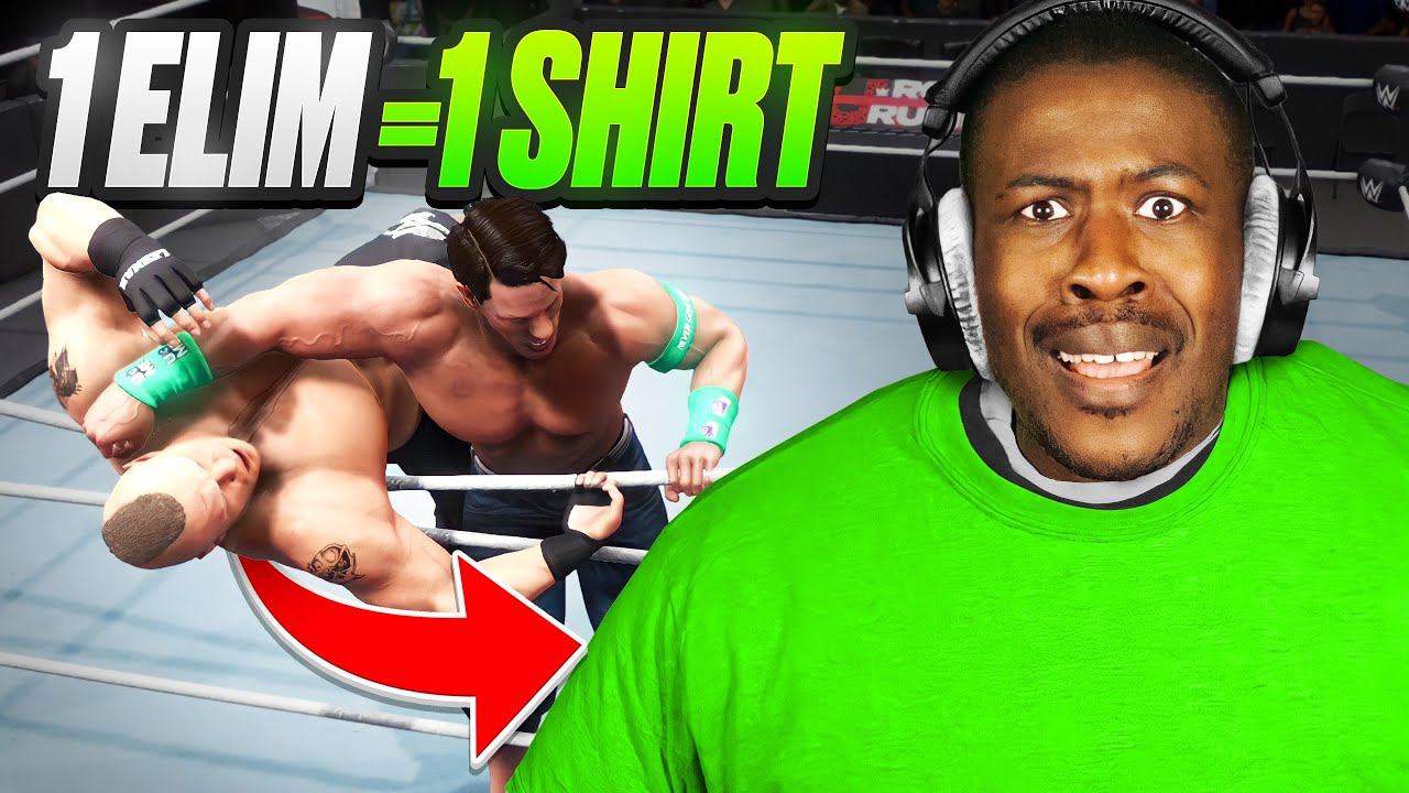 WWE 2K20 But I Put On A Shirt For Every Elimination I Get!