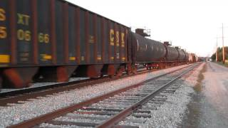 INRD westbound freight thru Linton,IN