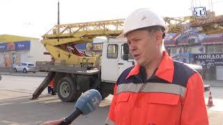 В Симферополе продолжаются работы по восстановлению уличного освещения и установке новых ламп