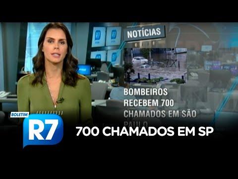 Bombeiros recebem 700 chamados por causa da chuva em SP