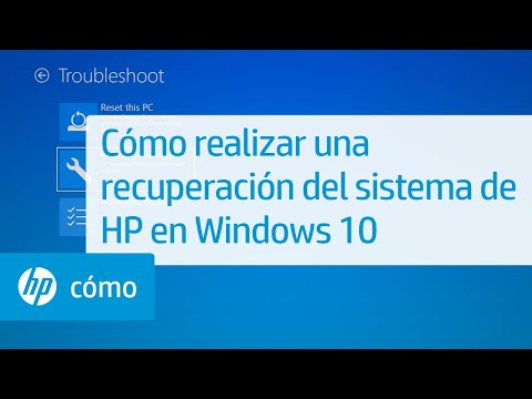 Cómo realizar una recuperación del sistema de HP en Windows 10 | HP Computers | HP