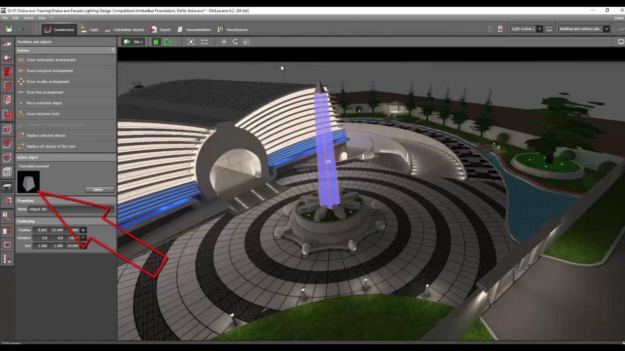 Day 2 Dialux Evo Training Facade Landscape 5 Youtube