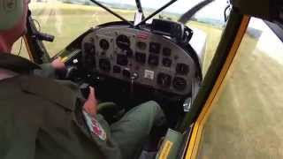 Cessna L19 O-1 Bird Dog directional control during landing! Watch at the stick and rudder movements!