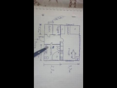 Планировка дома 6х6 6×6 6 на 6, дом из бруса.