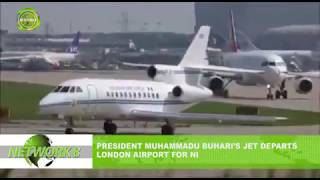 PRESIDENT MUHAMMADU BUHARI'S JET DEPARTS LONDON AIRPORT FOR NIGERIA