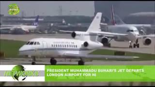 PRESIDENT MUHAMMADU BUHARI'S JET DEPARTS LONDON AIRPORT FOR NIGERIA