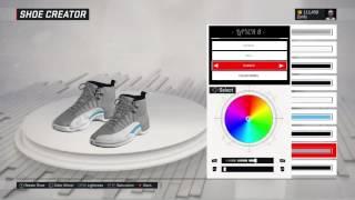 nba 2k17 shoe creator air jordan 12 university blue