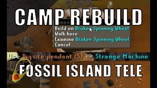 [Fossil] Camp rebuild & Unlocking Fossil island teleport