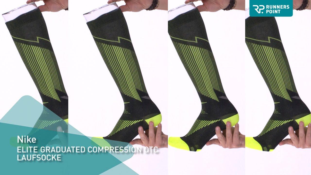 a7e9545555 Nike Elite Graduated Compression OTC Laufsocke - YouTube