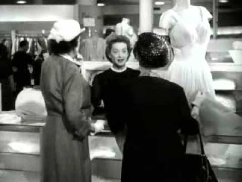 """The Star"" - Bette Davis - Star becomes Counter Girl"