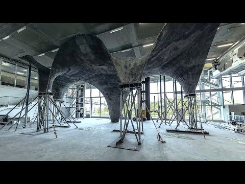 Ultra-thin concrete roof