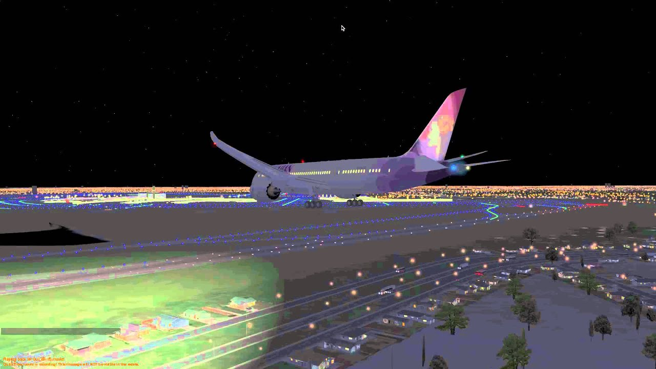 787 Night Landing At OHare X Plane 10 HD