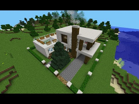 Casa moderna minecraft pe 0 8 1 youtube for Casa moderna minecraft 0 12 1