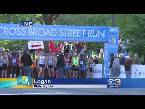 Tens Of Thousands Lace Up For Annual Broad Street Run