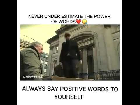 Never Under Estimate The Power Of Word, Always Say Positive Word To Yourself ❤